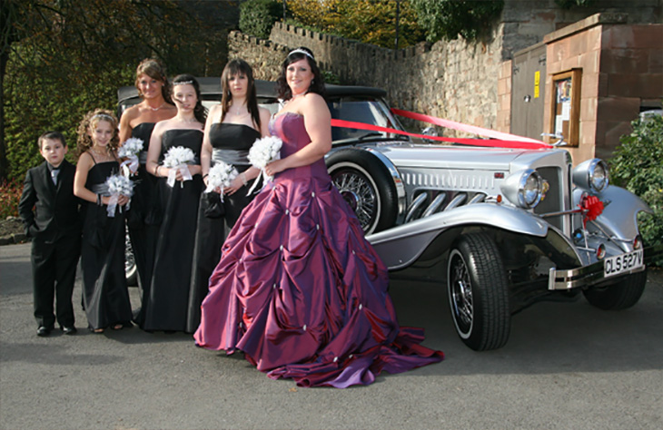 Beauford Tourer White or Silver Vintage Wedding Car Hire Service