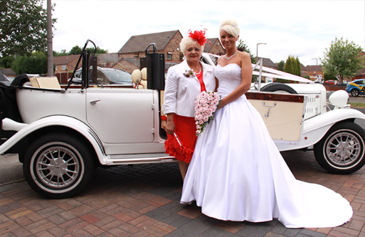 Local Beauford Tourer White or Silver Vintage Wedding Car
