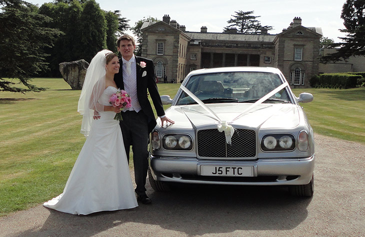 Silver Bentley Arnage Wedding Car