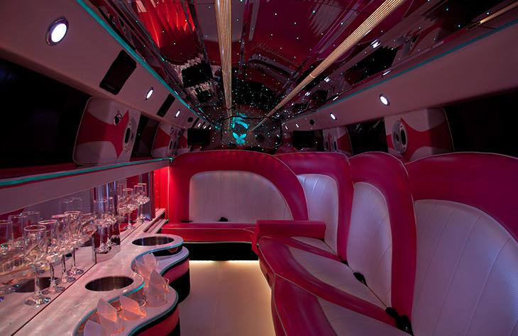 Pink Hummer LimousinePink Hummer Limo Inside