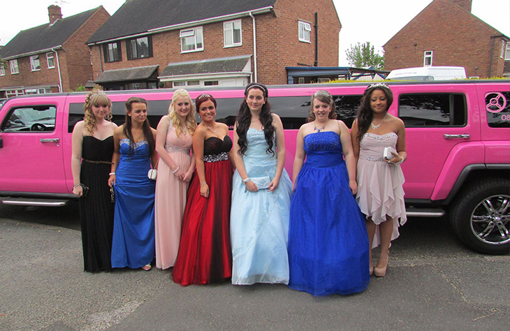 Local Pink Limousine Hire for proms