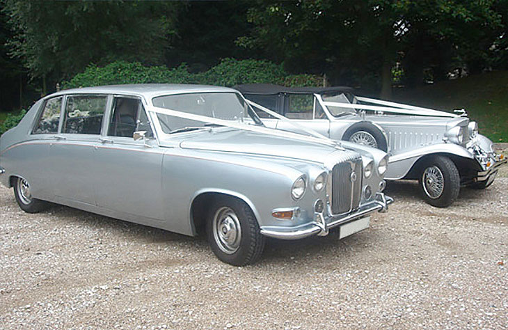 Daimler Limousine Silver Wedding Car