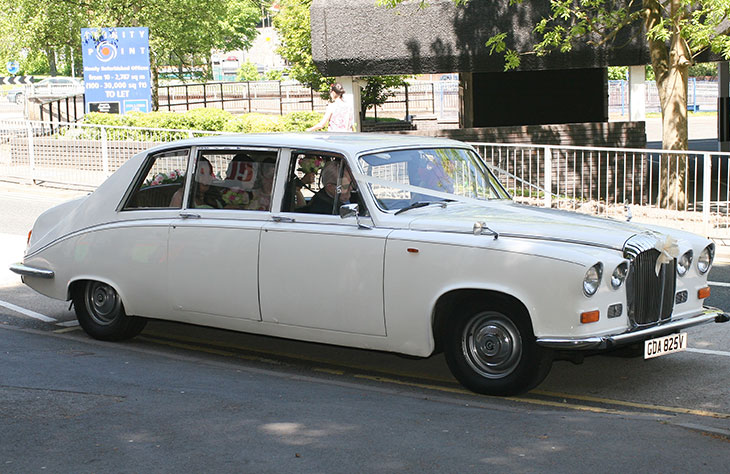 Daimler Limousine White Wedding Car